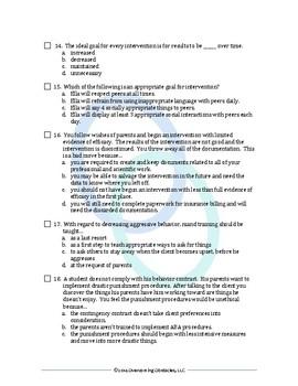BCBA/BCaBA Certification Exam Practice Test
