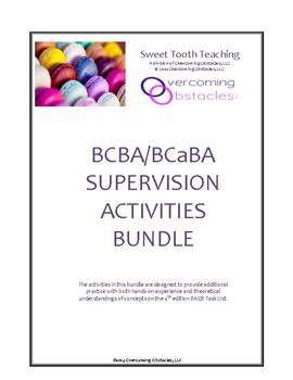BCBA/BCaBA Supervision Activities Bundle 1
