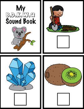 BDKWQ Beginning Sounds and Phonemic Awareness Interactive Books Set 4