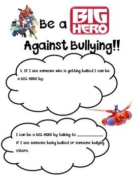 Be a BIG HERO against BULLYING!