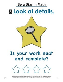 """Grades K-2 """"BE A STAR"""" Math Practices Posters with Mini Book"""