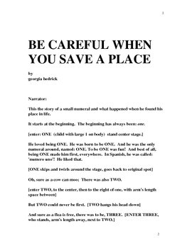 BE CAREFUL WHEN YOU SAVE A PLACE