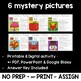 BE - HAVE Subject Verb Agreement Activities : 6 mystery pictures