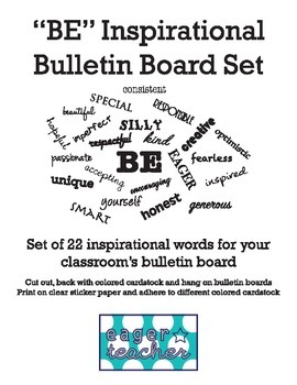 """BE"" Inspirational Bulletin Board Set"