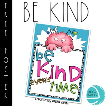 BE KIND POSTER FREEBIE!
