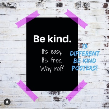BE KIND POSTERS