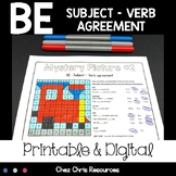 BE Subject Verb Agreement Activities : 4 mystery pictures