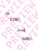 BE kind  board