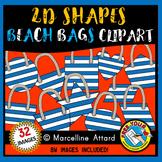 BEACH BAG SHAPES CLIP ART: 2D SHAPE BEACH BAGS