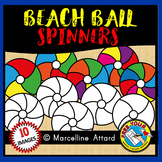 BEACH BALL SPINNERS CLIPART FOR SUMMER WORKSHEETS AND ACTIVITIES