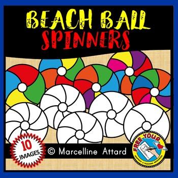BEACH BALL SPINNERS CLIPART: SUMMER CLIPART