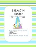 BEACH Binder EDITABLE