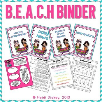 B.E.A.C.H Binder Kit with Editable Pages