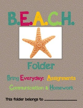 B.E.A.C.H. Folder or Binder Cover *Parent Communication Tool*
