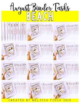 BEACH Binder- Independent Work Binder System