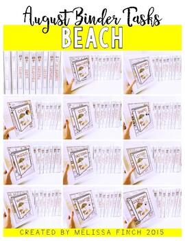 BEACH- Independent Work Binder System