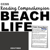 """""""BEACH LIFE"""" INFORMATIONAL READING COMPREHENSION & INFERRING"""