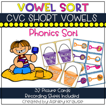 BEACH Short Vowel Picture Sort