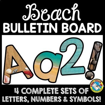 graphic relating to Poster Board Letters Printable identify Beach front Topic CLASSROOM DECOR (Seaside Topic BULLETIN BOARD LETTERS PRINTABLE Package deal