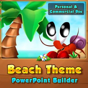 Beach Theme Visual PowerPoint Builder