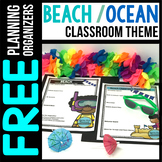 BEACH Theme Decor Planner by Clutter Free Classroom