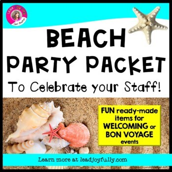 BEACH Staff Activity Packet: Welcome Back or Bon Voyage!