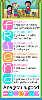 BEACH kids theme - Classroom Decor: LARGE BANNER, Friend, Are You a Good Friend