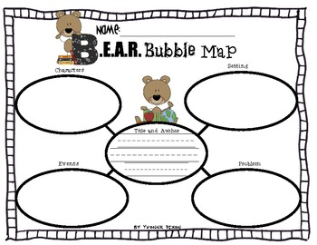 B.E.A.R. Be Excited About Reading Resources and Graphic Organizers