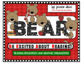 B.E.A.R. Be Excited About Reading Resources and Graphic Or