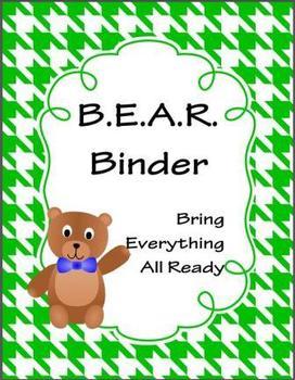 B.E.A.R. Binder - Bring Everything All Ready