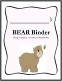 BEAR Binder Cover