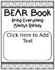 BEAR Book Editable Communication Folder