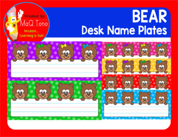 BEAR DESK NAME PLATES