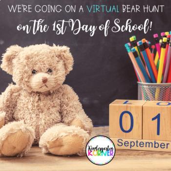 BEAR HUNT 1st Day / Week of School Beginning of the Year EDITABLE Scavenger Hunt