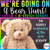 BEAR HUNT 1st Day / Week of School Beginning of the Year EDITABLE Scavenger Hunt