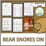 BEAR SNORES ON BOOK UNIT & SEQUENCING CRAFT