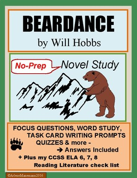 BEARDANCE by Will Hobbs, Novel Study - Complete