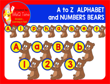 BEARS ALPHABET AND NUMBERS