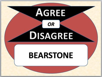 BEARSTONE - Agree or Disagree Pre-reading Activity