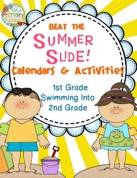 BEAT THE SUMMER SLIDE {Calendars  & Activities ~ 1st Grade