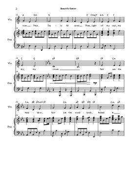 BEAUTIFUL SAVIOR (Violin & Piano)