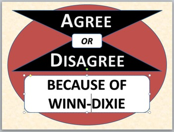 BECAUSE OF WINN-DIXIE - Agree or Disagree Pre-reading Activity