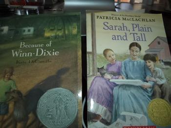 BECAUSE OF WINN DIXIE   SARAH PLAIN AND TALL (SET OF 2)