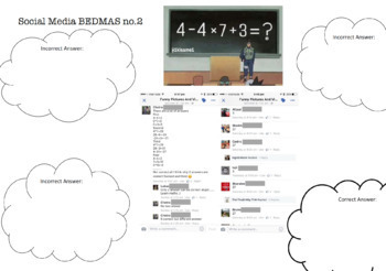 BEDMAS BODMAS PEDMAS Group Activity Social Media