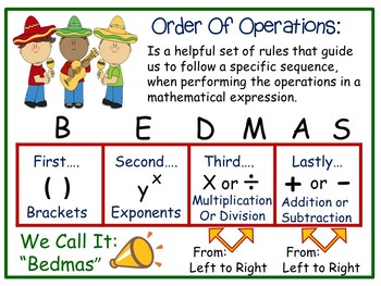 Cinco de Mayo ~ Order of Operations Math Games