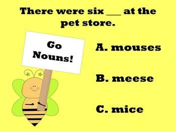 """""""BEE"""" A Noun Expert - PowerPoint Game"""