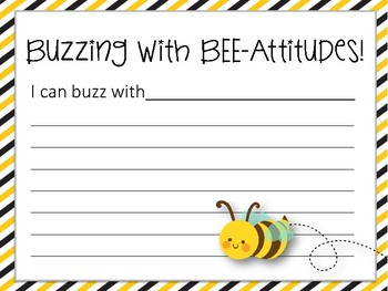 BEE-Attitudes Bulletin Board Set and Writing Assignment