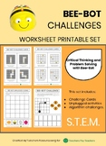 BEE-BOT CHALLENGES - Worksheet Printable Set