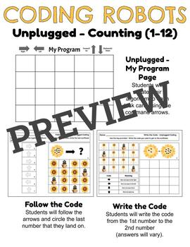 Coding Robots - Counting Sunflower Seeds - Plugged & Unplugged