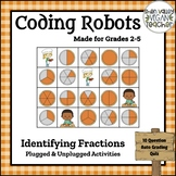BEE BOT - Identifying Fractions - Plugged & Unplugged